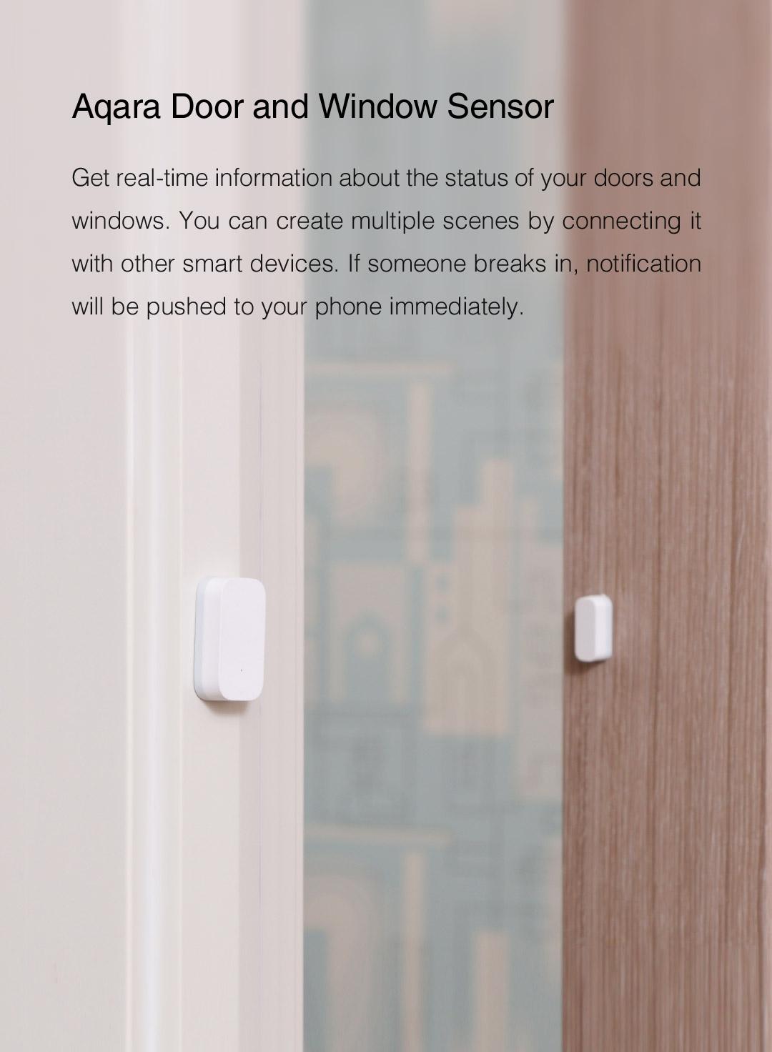 Aqara door and window sensor - smart home security sensor for every door and window.