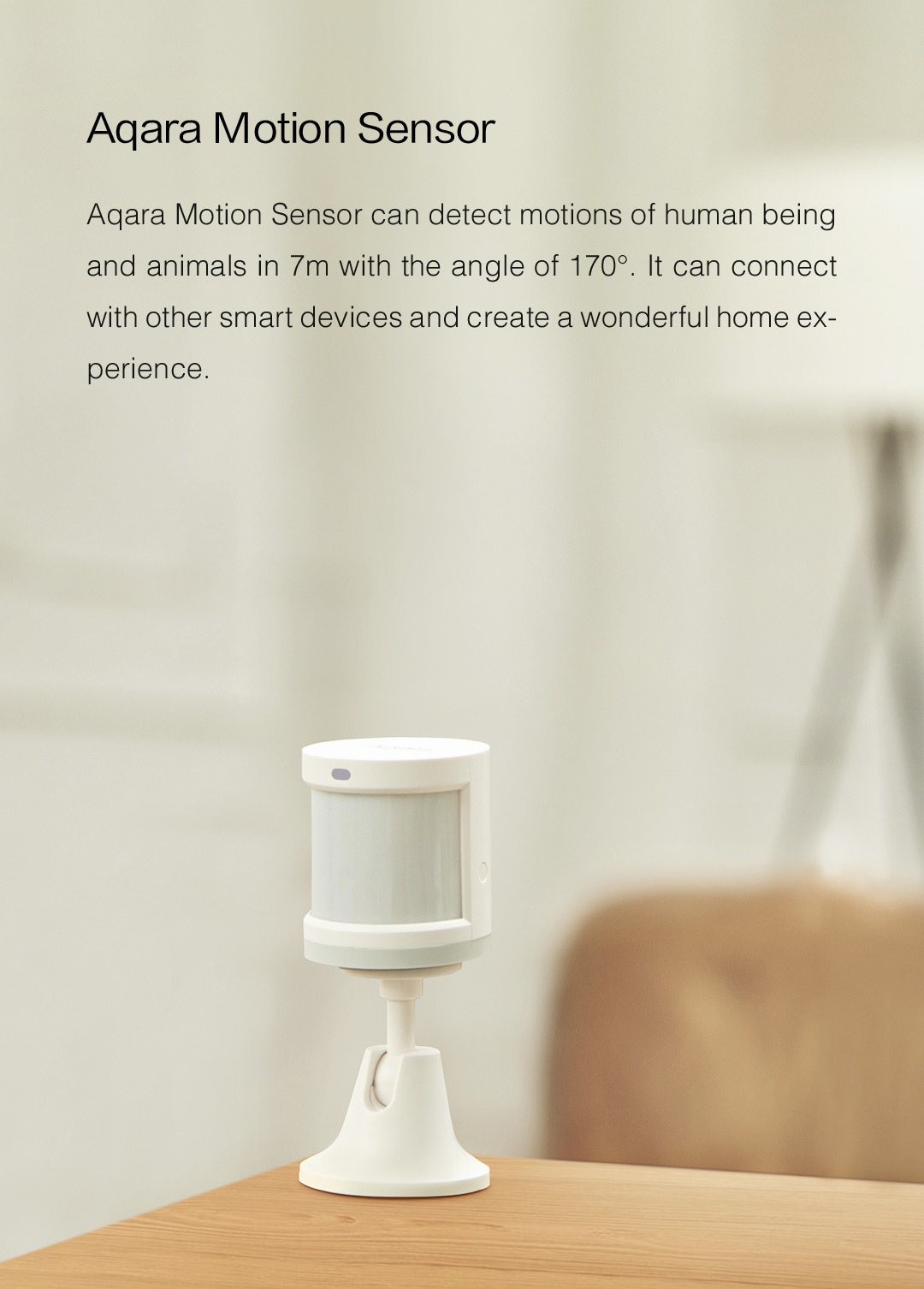 Aqara human motion sensor - detects human body and motion in real time.