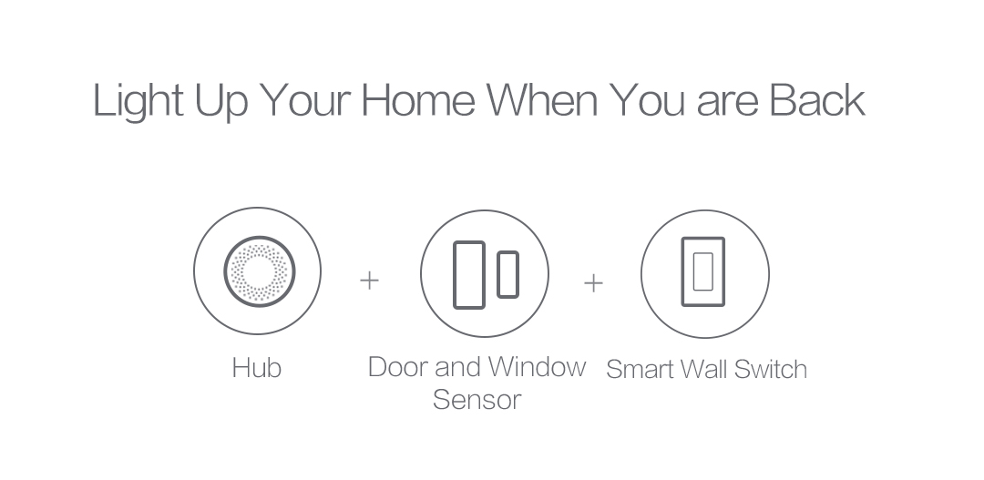 The lights will automatically turn on as soon as you arrive home to give you a warm welcome.