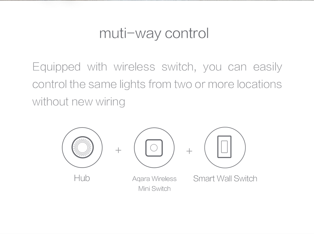 With wireless switch, you can easily control the same lights from two or more locations
