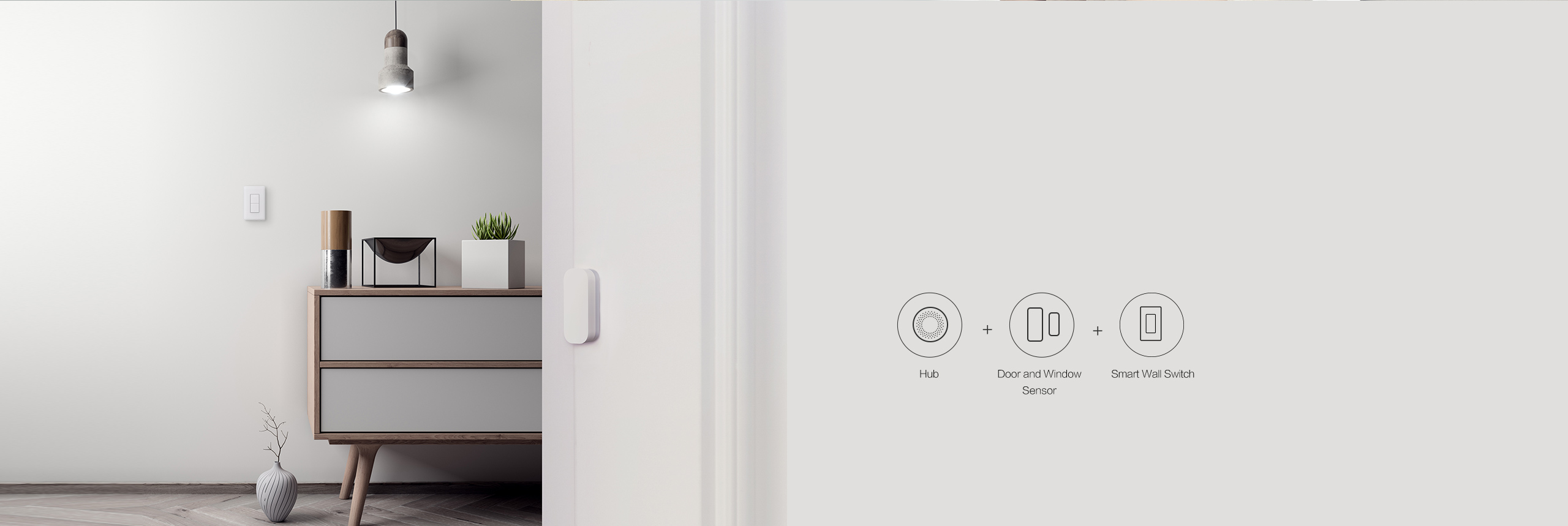 Smart lighting with our smart switch with neutral and door sensor