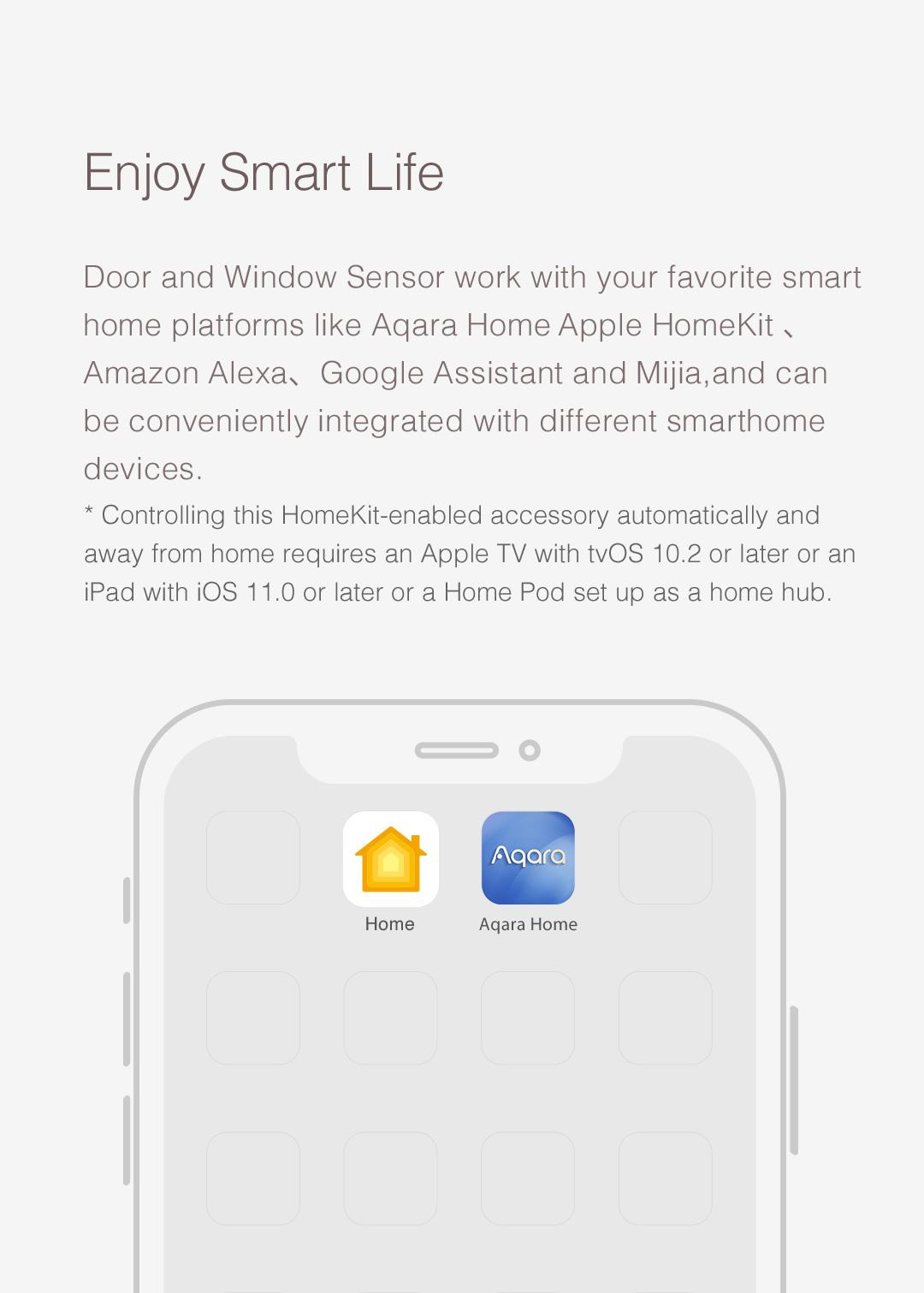 Aqara smart door window sensor works with Apple HomeKit and Xiaomi Mijia