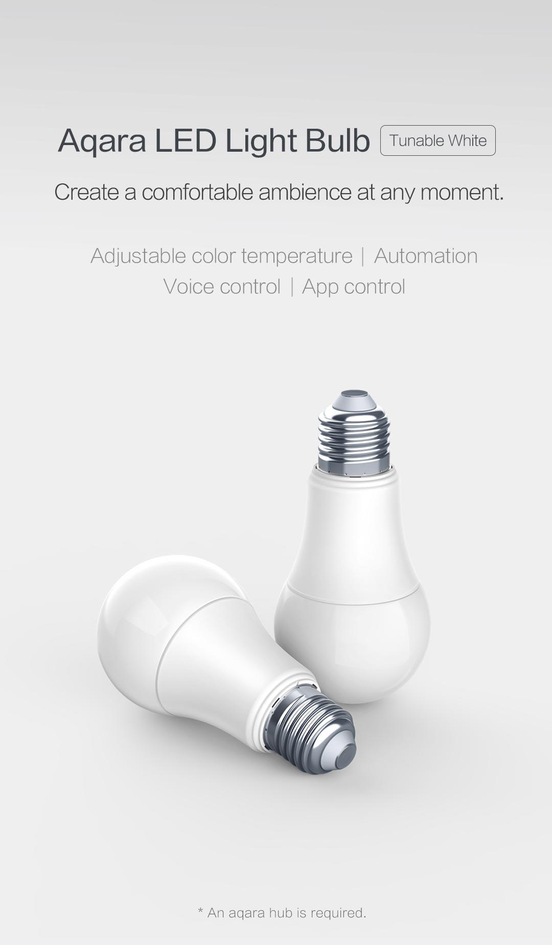 Aqara smart light bulb e27 tunable white