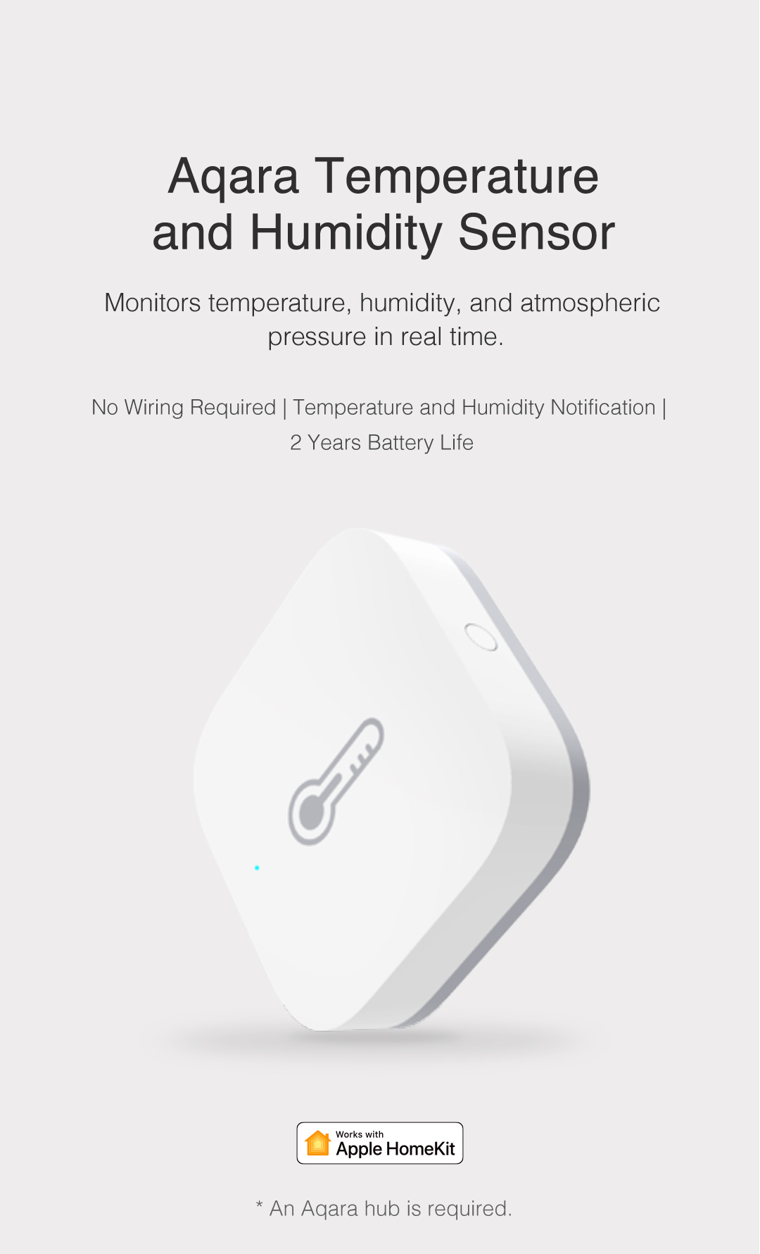 Aqara Temperature and Humidity Detector - Monitors temperature, humidity, and atmospheric pressure in real time