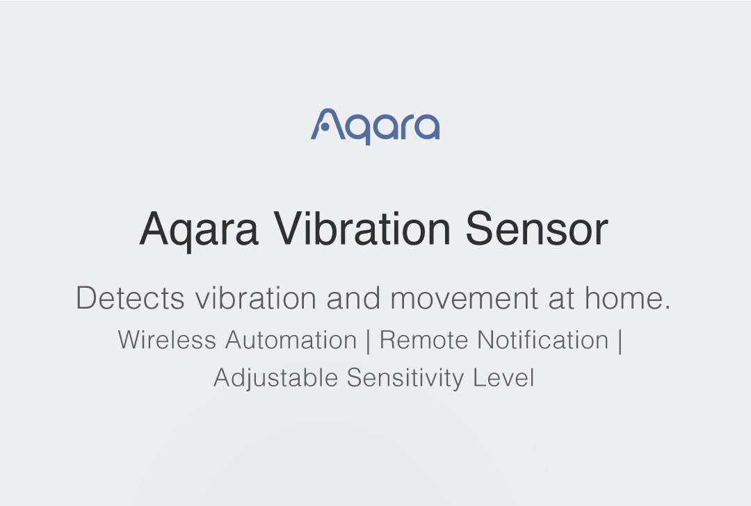 Aqara vibration sensor detects vibration at home. Wireless Automation & Adjustable sensitivity level