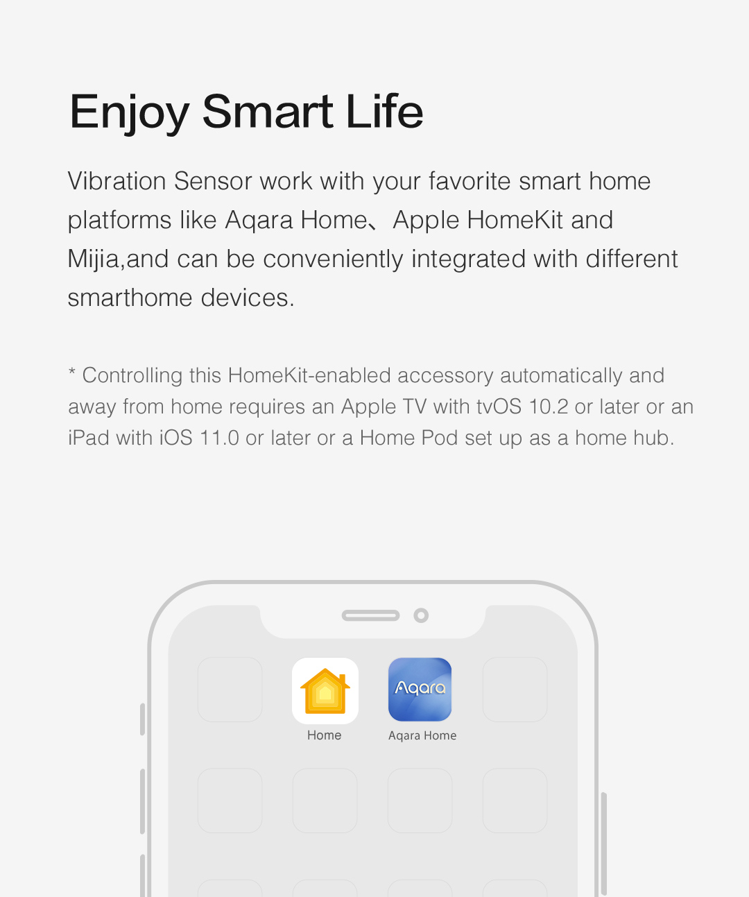 Our wireless vibration sensor works with Apple HomeKit and Xiaomi Mijia
