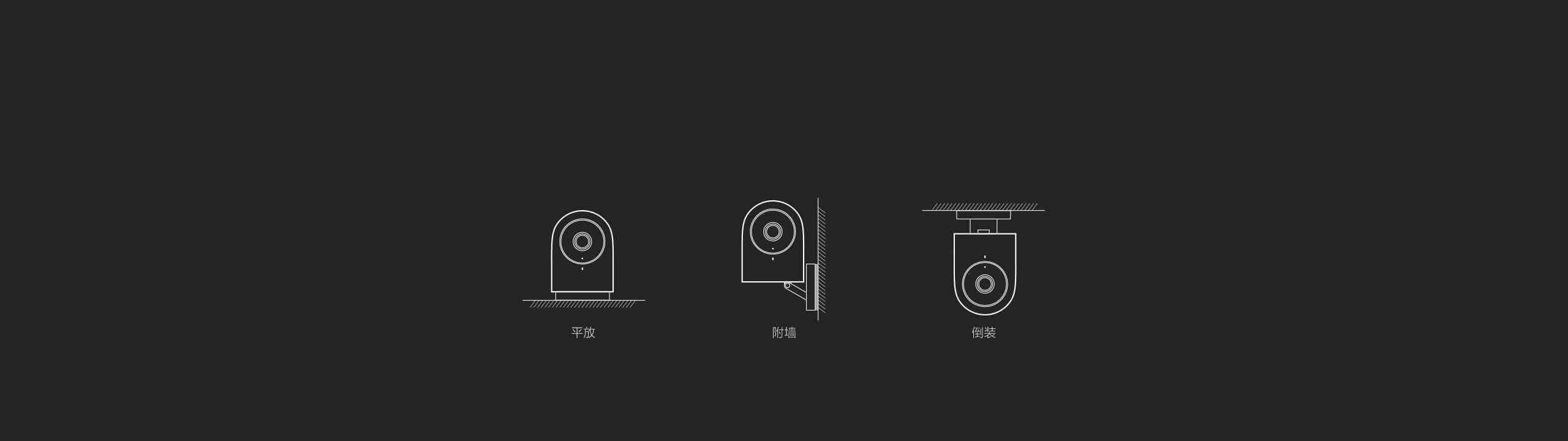 Aqara 智能摄像机 G2 - 多种安装方式