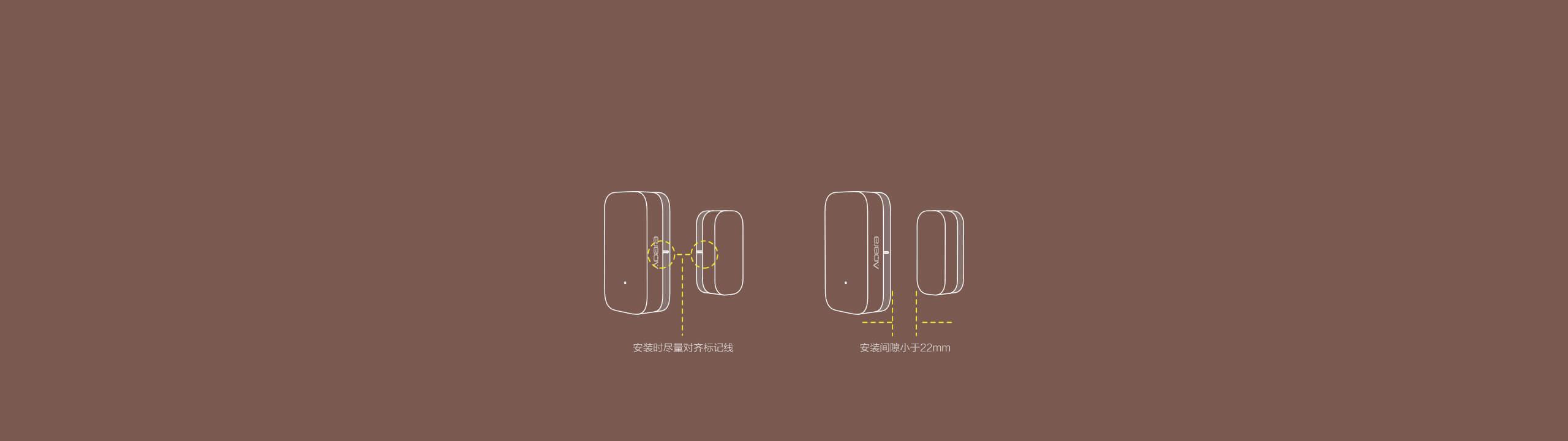 Aqara 门窗传感器 - 免工具安装