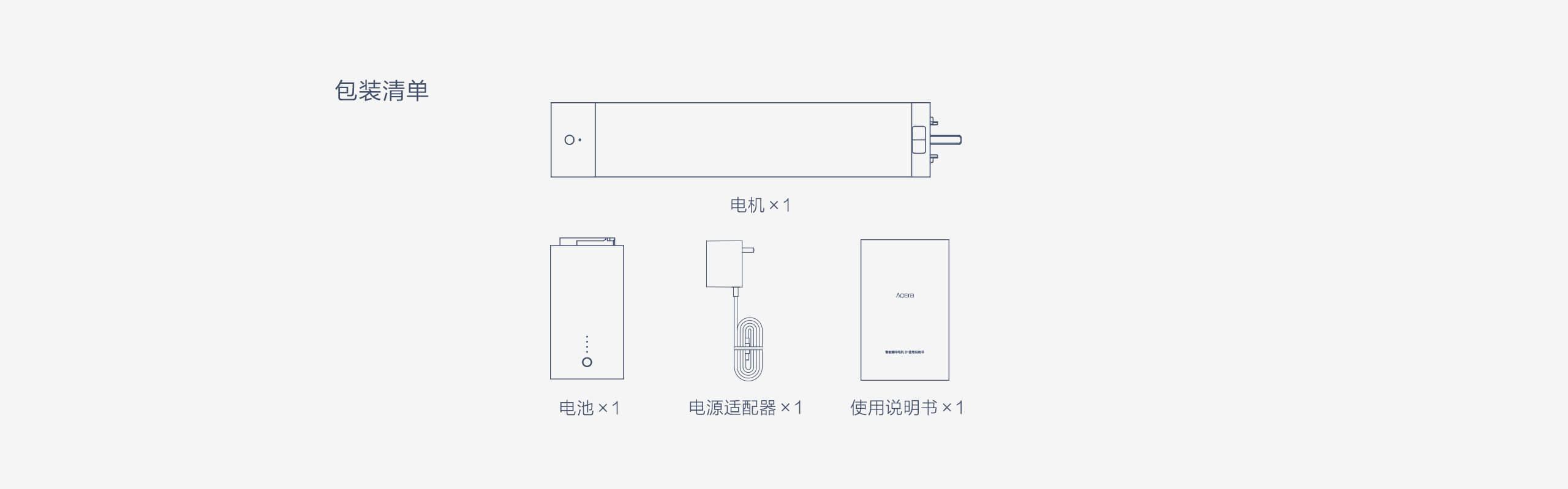 Aqara智能窗帘电机B1 - 包装清单