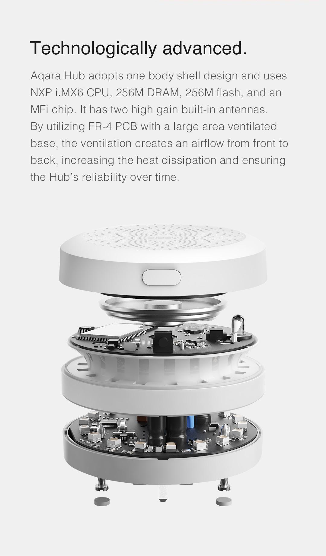 Aqara Hub adopts one body shell design and Advanced Technology