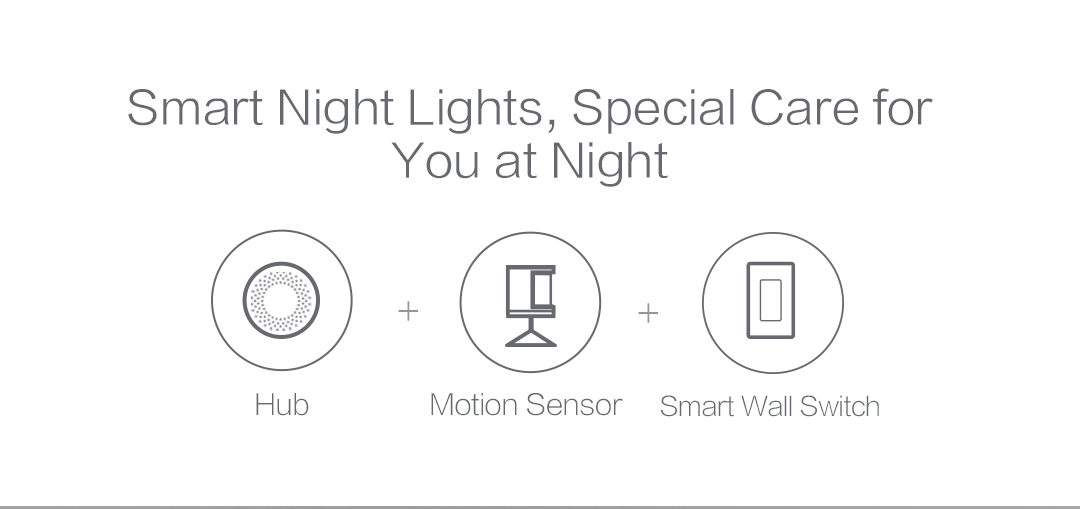 When you get up at night, the Smart Wall Switch will automatically turn on the light.