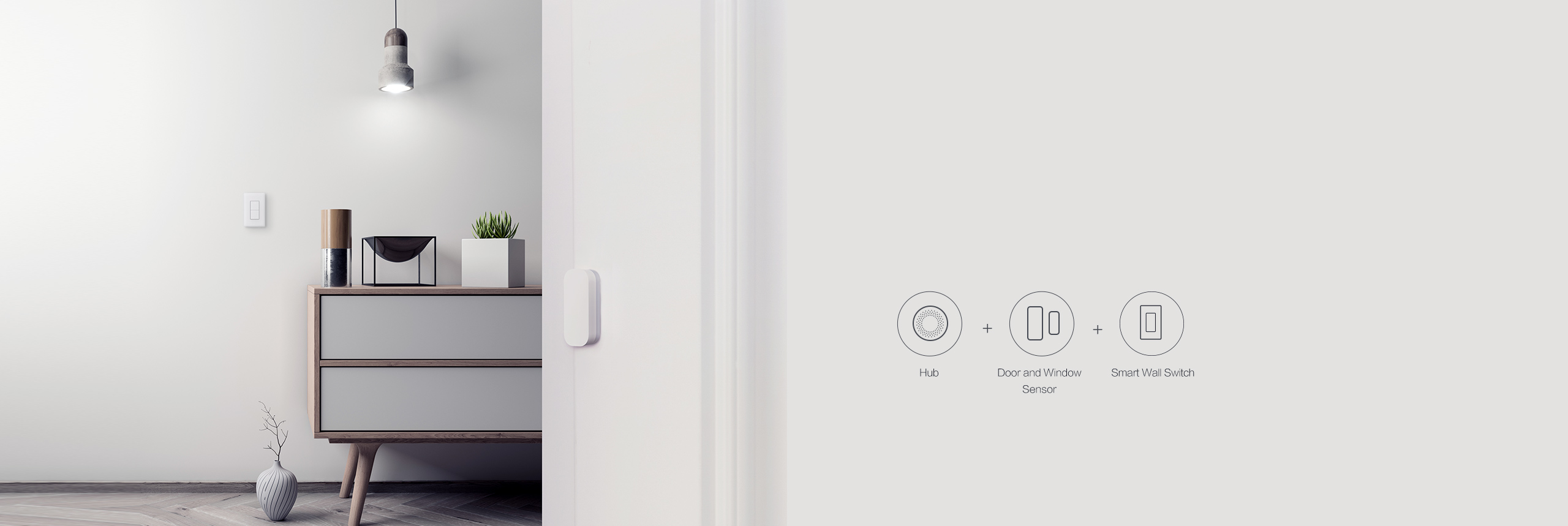 Smart lighting with our smart switch without neutral and door sensor