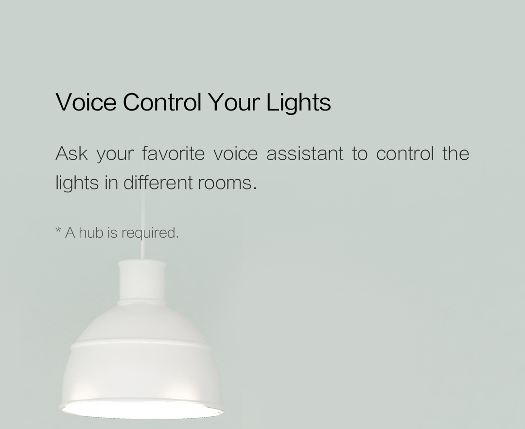 Voice control your lights because of our smart lighting switch with neutral
