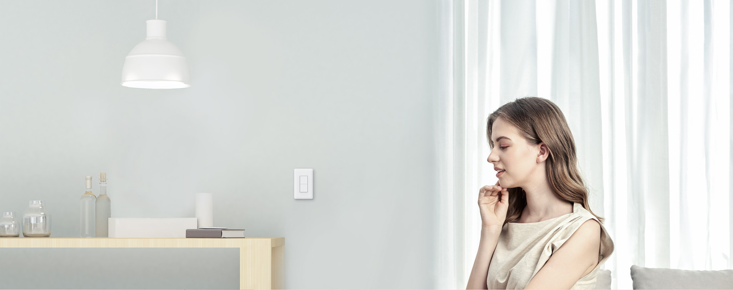 Smart wall switch with neutral compatible with HomeKit Siri, Google Assistant and Amazon Alexa