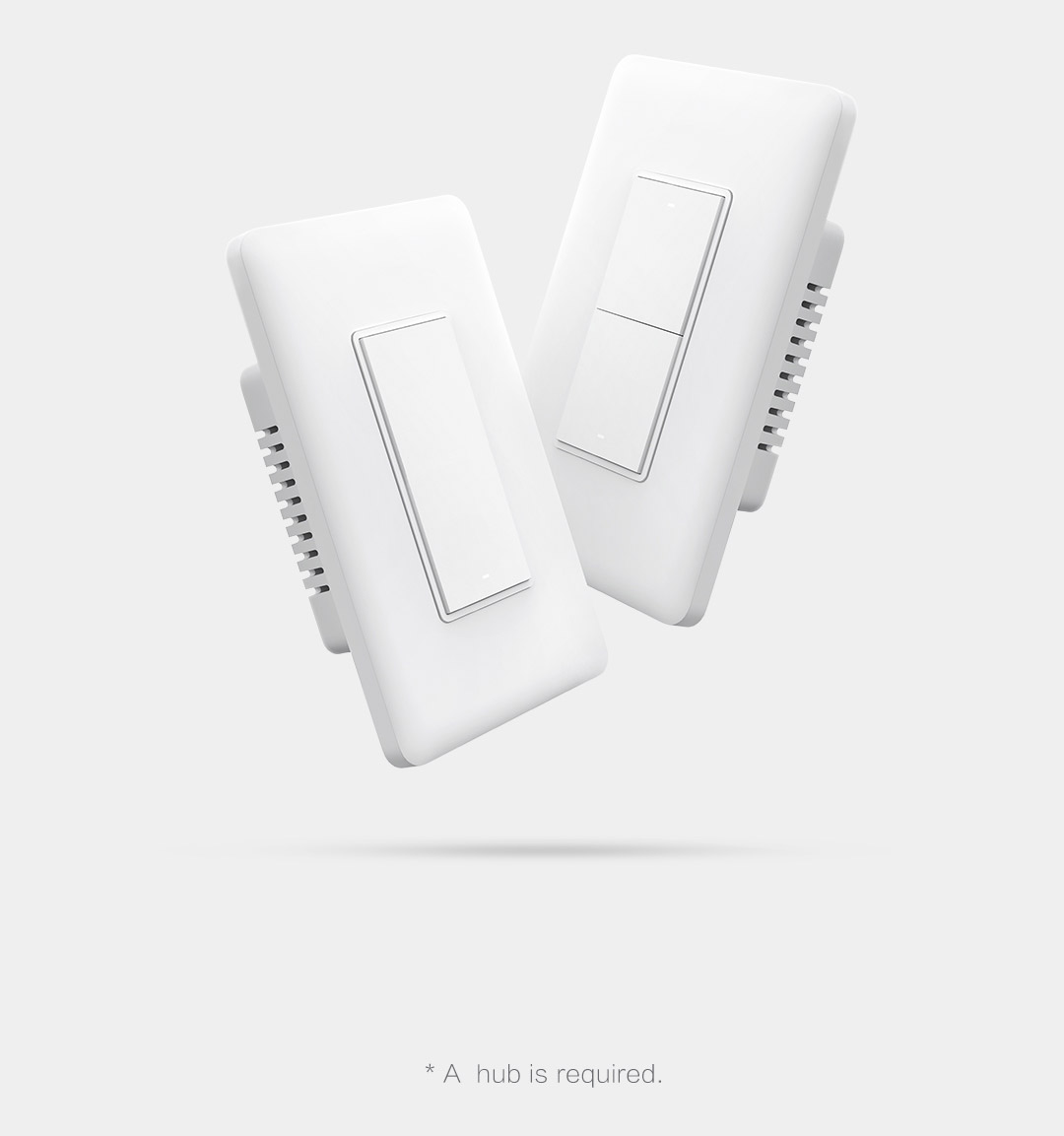 Smart home light swtich supporting remote control, engergy monitoring, overload protection voice control and automation.
