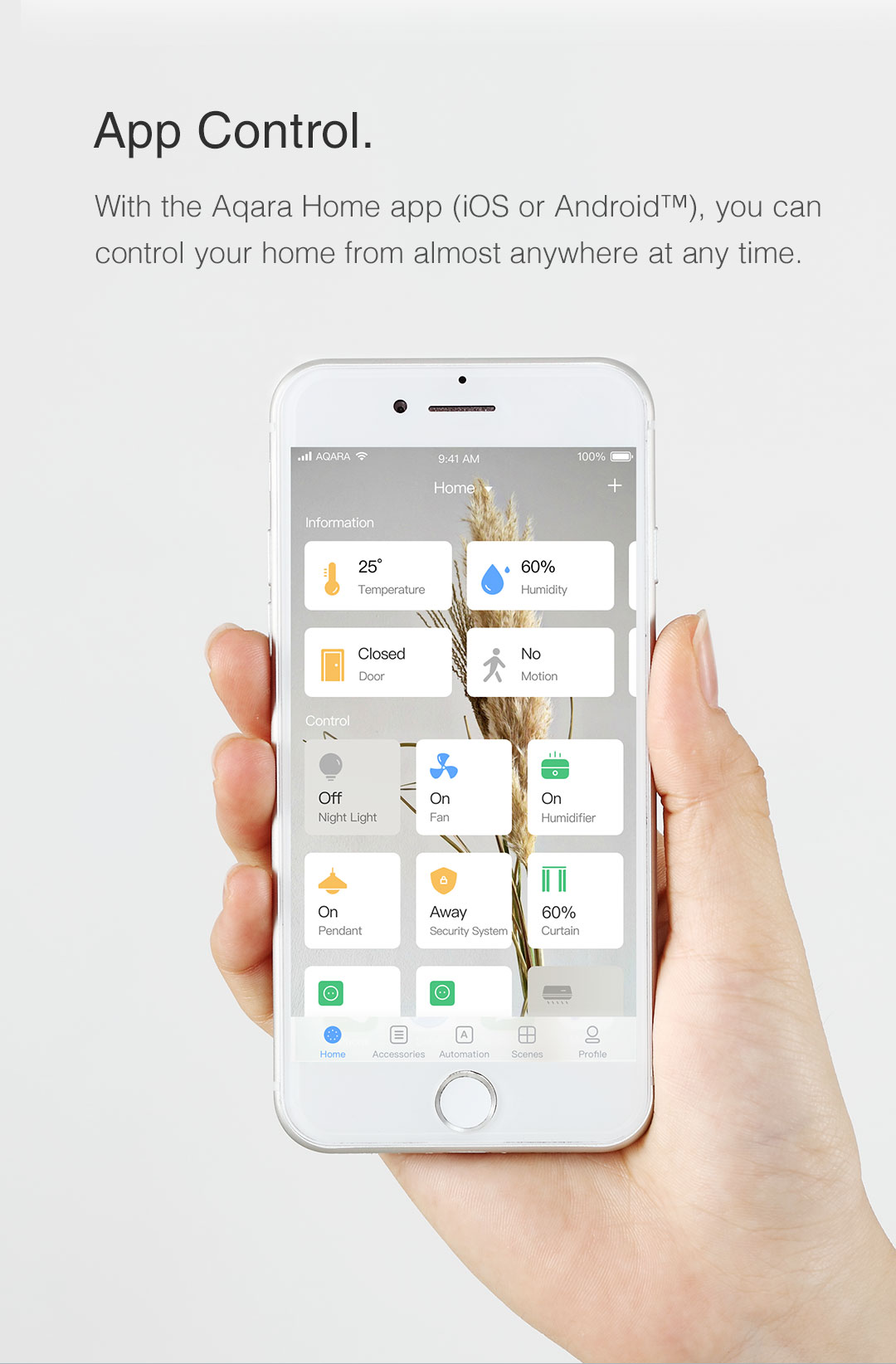 app control for Aqara smart outlet