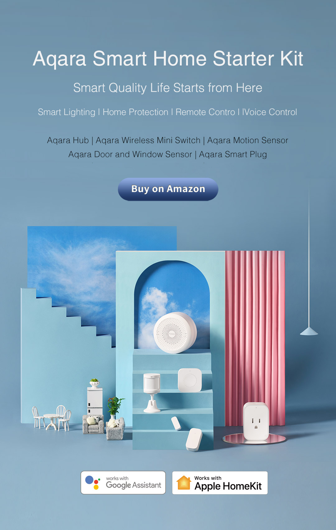 Aqara Smart Home Starter Kit - Smart Quality Life Starts from Here
